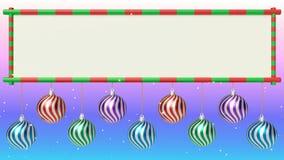 Rappresentazione del fondo 3d di Natale illustrazione di stock