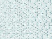 Rappresentazione del fondo nano bianco astratto Fotografie Stock