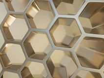 Rappresentazione del fondo nano del metallo astratto Immagine Stock Libera da Diritti