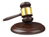 Rappresentazione del martello 3D della giustizia Immagini Stock Libere da Diritti