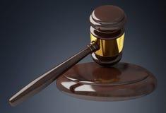 Rappresentazione del martello 3D della giustizia Fotografia Stock