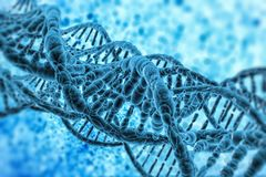 Rappresentazione del modello di struttura del DNA 3D Fotografie Stock