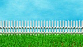 Rappresentazione del recinto 3d dell'azienda agricola royalty illustrazione gratis