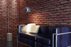 Rappresentazione del sofà 3D Immagini Stock Libere da Diritti
