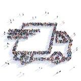 Rappresentazione dell'automobile di distribuzione postale 3D Fotografia Stock Libera da Diritti