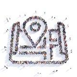Rappresentazione dell'icona 3D di forma del puntatore della mappa Fotografie Stock Libere da Diritti