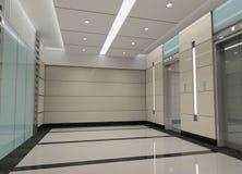 rappresentazione dell'ingresso dell'elevatore 3d Immagini Stock