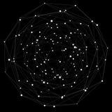 Rappresentazione dell'interfaccia 3D della connessione di rete di volo Fotografie Stock
