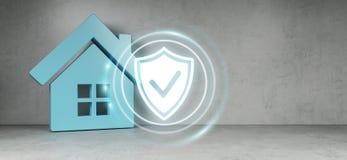 Rappresentazione dell'interfaccia 3D di sicurezza di Smarthome Immagini Stock Libere da Diritti