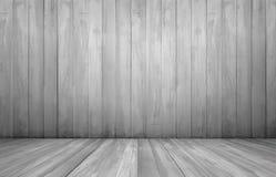 Rappresentazione dell'interno con la parete ed il pavimento di legno Immagine Stock Libera da Diritti