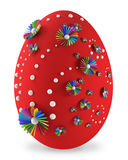 Rappresentazione dell'uovo di Pasqua 3d Fotografie Stock Libere da Diritti