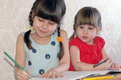 Rappresentazione della bambina Fotografie Stock Libere da Diritti