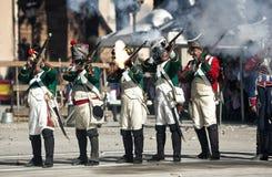 Rappresentazione della battaglia di Bailen fotografie stock libere da diritti