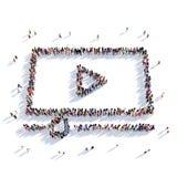 Rappresentazione della gente 3D del cinema della TV HD royalty illustrazione gratis