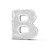 Rappresentazione della lettera di pietra B isolata su fondo bianco Immagine Stock Libera da Diritti
