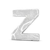Rappresentazione della lettera di pietra Z isolata su fondo bianco Fotografia Stock