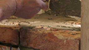 Rappresentazione della muratura trattata stock footage