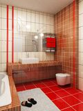 rappresentazione della stanza da bagno 3d Fotografie Stock Libere da Diritti