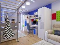 Rappresentazione della stanza del ` s dei bambini di interior design royalty illustrazione gratis