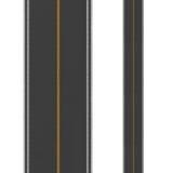 Rappresentazione della strada a doppio senso di circolazione su fondo bianco Vista superiore royalty illustrazione gratis
