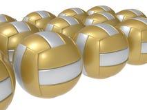 Rappresentazione delle palle 3D di pallavolo royalty illustrazione gratis