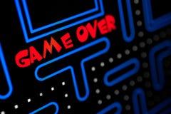 Rappresentazione dello schermo che il gioco è più Fotografie Stock