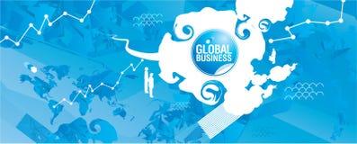 Rappresentazione di affari globali Fotografie Stock Libere da Diritti