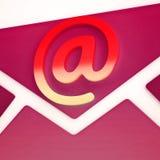 Rappresentazione di allarme 3d di identità del email di Phishing Scam Immagine Stock Libera da Diritti