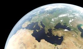 Rappresentazione di alta risoluzione della terra del pianeta Fotografia Stock
