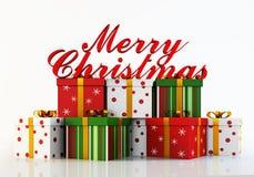 Rappresentazione di Buon Natale 3d Fotografie Stock Libere da Diritti