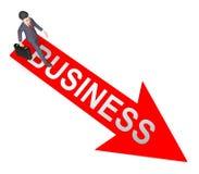 Rappresentazione di Business Arrow Represents Commercial Corporations 3d illustrazione vettoriale