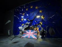 Rappresentazione di concetto 3d di Brexit Immagine Stock