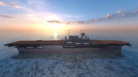 rappresentazione di 3D CG dei portaerei illustrazione di stock