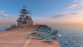rappresentazione di 3D CG dei portaerei royalty illustrazione gratis
