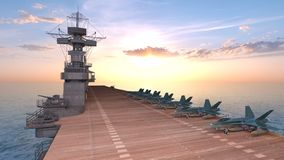 rappresentazione di 3D CG dei portaerei illustrazione vettoriale