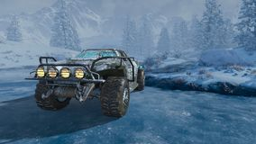 rappresentazione di 3D CG del camion di mostro royalty illustrazione gratis