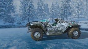 rappresentazione di 3D CG del camion di mostro illustrazione di stock