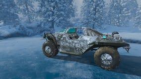 rappresentazione di 3D CG del camion di mostro illustrazione vettoriale
