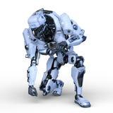 rappresentazione di 3D CG del robot illustrazione di stock