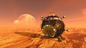 rappresentazione di 3D CG dell'astronave illustrazione di stock