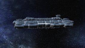rappresentazione di 3D CG dell'astronave archivi video