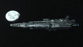 rappresentazione di 3D CG dell'astronave illustrazione vettoriale