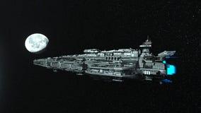 rappresentazione di 3D CG dell'astronave royalty illustrazione gratis