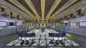 rappresentazione di 3D CG dell'ufficio moderno della costruzione Immagine Stock Libera da Diritti