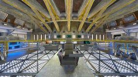 rappresentazione di 3D CG dell'ufficio moderno della costruzione Immagini Stock Libere da Diritti