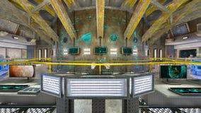 rappresentazione di 3D CG dell'ufficio moderno della costruzione Fotografia Stock Libera da Diritti