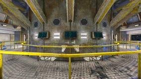 rappresentazione di 3D CG dell'ufficio moderno della costruzione Fotografie Stock