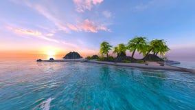 rappresentazione di 3D CG della spiaggia fotografia stock libera da diritti
