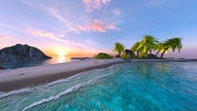 rappresentazione di 3D CG della spiaggia fotografia stock