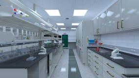 rappresentazione di 3D CG della stanza di scienza fotografia stock